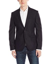 Blazer de Rayas Verticales Negro de Kenneth Cole New York