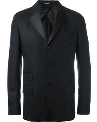 Blazer de Seda a Cuadros Negro de Alexander McQueen