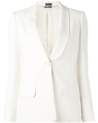 Blazer de seda blanco de Alexander McQueen