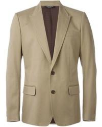 Blazer de seda marrón claro de Dolce & Gabbana