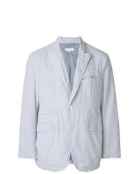 Blazer de Seersucker de Rayas Verticales Celeste de Engineered Garments