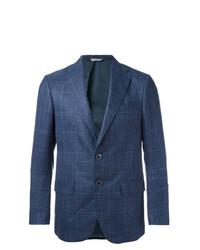 Blazer de tartán azul marino de Fashion Clinic Timeless
