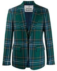 Blazer de tartán en verde azulado de Vivienne Westwood