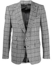 Blazer de tartán gris de Dolce & Gabbana