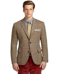 Blazer de Tartán Marrón de Brooks Brothers
