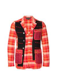 Blazer de tartán rojo de Comme Des Garçons Vintage