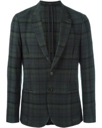 Blazer de Tartán Verde Oscuro de Paul Smith