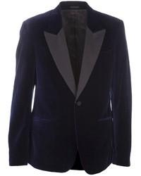 Blazer de Terciopelo Azul Marino de Alexander McQueen