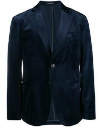 Blazer de terciopelo azul marino de Emporio Armani