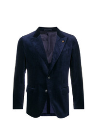 Blazer de terciopelo azul marino de Gabriele Pasini
