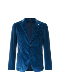 Blazer de terciopelo azul marino de Tagliatore