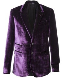 Blazer de Terciopelo Morado de Paul Smith