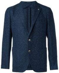 Blazer de tweed azul marino