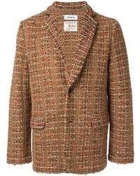 Blazer de tweed en tabaco de Coohem