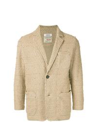 Blazer de tweed marrón claro de Coohem