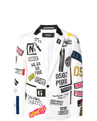 Blazer estampado blanco de DSQUARED2