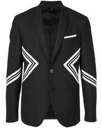 Blazer estampado en negro y blanco de Neil Barrett