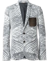 Blazer estampado gris