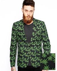 Blazer estampado verde