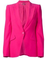 Blazer rosa de Alexander McQueen