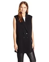 Blazer sin mangas negro de Lucca Couture