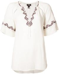 Blusa bordada blanca de Paige