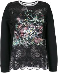 Blusa bordada negra de Fendi