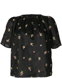 Blusa bordada negra de Isabel Marant
