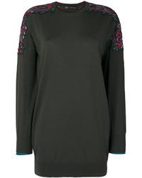 Blusa bordada verde oscuro de Versace