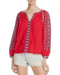 Blusa campesina bordada roja