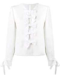 Blusa con adornos blanca de Fendi
