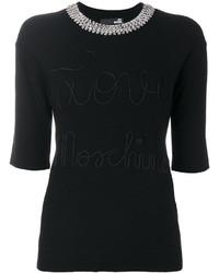 Blusa con adornos negra de Love Moschino