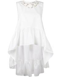 Blusa con print de flores blanca de Fendi