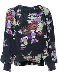 Blusa con print de flores negra de Isabel Marant