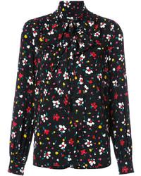 Blusa con print de flores negra de Marc Jacobs