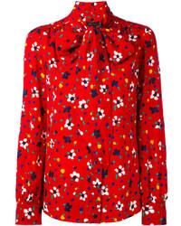 Blusa con print de flores roja de Marc Jacobs