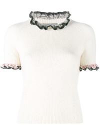 Blusa con volante blanca de Alexander McQueen