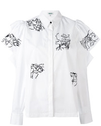 Blusa con volante blanca de Kenzo