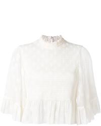 Blusa con volante blanca de MCQ
