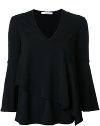 Blusa con volante negra de Givenchy