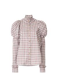 Blusa de botones a cuadros blanca de Macgraw