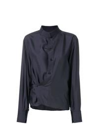 Blusa de botones azul marino de Lemaire