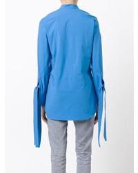 Blusa de botones azul de Erika Cavallini