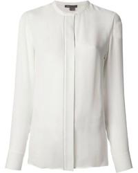 Blusa de botones blanca