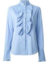 Blusa de Botones Celeste de Dolce & Gabbana