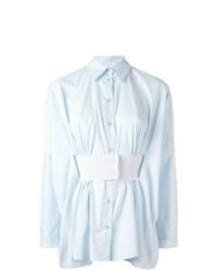 Blusa de Botones Celeste de MM6 MAISON MARGIELA