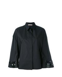 Blusa de botones con adornos negra de Marni