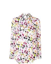 Blusa de botones con print de flores blanca de Equipment
