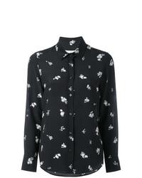 Blusa de botones con print de flores negra de Golden Goose Deluxe Brand