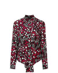Blusa de botones de estrellas negra de Rossella Jardini